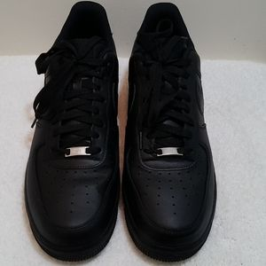 Nike Air Force 1 Black Sneakers.
